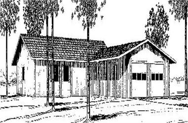 3-Bedroom, 1491 Sq Ft Small House Plans - 145-1830 - Front Exterior