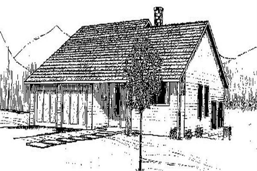 3-Bedroom, 1751 Sq Ft Small House Plans - 145-1831 - Main Exterior