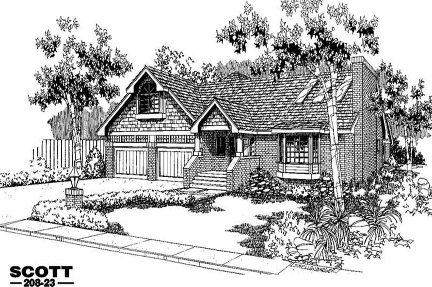3-Bedroom, 1669 Sq Ft Contemporary House Plan - 145-1834 - Front Exterior