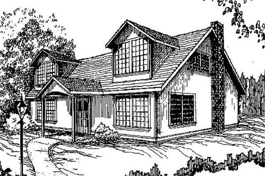 3-Bedroom, 1376 Sq Ft Contemporary House Plan - 145-1835 - Front Exterior