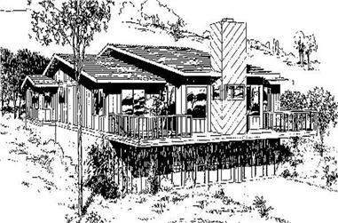 4-Bedroom, 1256 Sq Ft Small House Plans - 145-1838 - Main Exterior