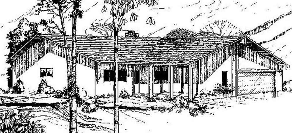 Transitional home (ThePlanCollection: Plan #145-1839)