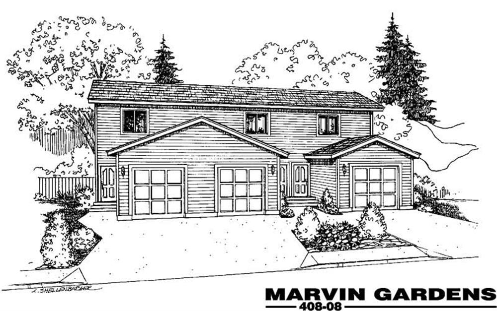 Main image for house plan # 9087