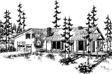 3-Bedroom, 2136 Sq Ft Contemporary House Plan - 145-1845 - Front Exterior