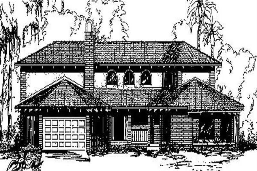 5-Bedroom, 2861 Sq Ft Mediterranean House Plan - 145-1853 - Front Exterior