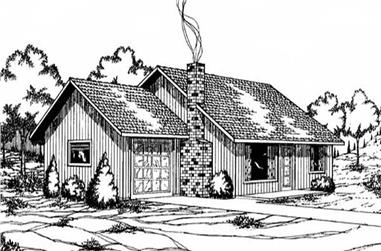 3-Bedroom, 1020 Sq Ft Vacation Homes House Plan - 145-1855 - Front Exterior
