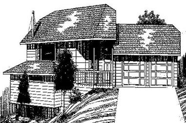 3-Bedroom, 1542 Sq Ft Contemporary House Plan - 145-1856 - Front Exterior