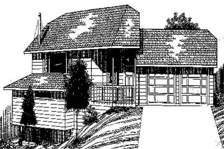 Main image for house plan # 8912