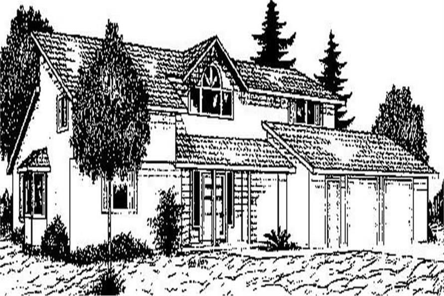 2-Bedroom, 2283 Sq Ft Contemporary House Plan - 145-1857 - Front Exterior