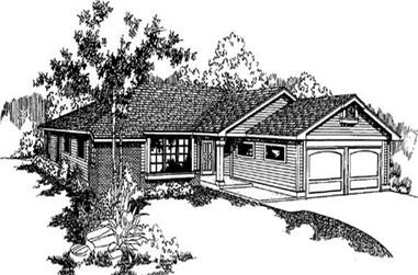 3-Bedroom, 1491 Sq Ft Contemporary House Plan - 145-1858 - Front Exterior