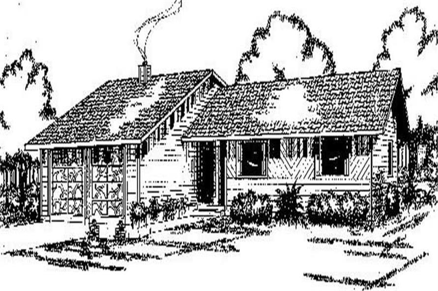Main image for house plan # 8908