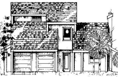 3-Bedroom, 2116 Sq Ft Transitional Home Plan - 145-1862 - Main Exterior