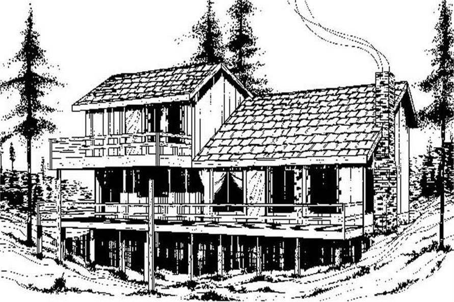 3-Bedroom, 1499 Sq Ft Vacation Homes House Plan - 145-1863 - Front Exterior