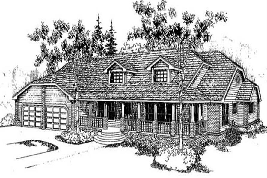 3-Bedroom, 2705 Sq Ft Ranch Home Plan - 145-1865 - Main Exterior