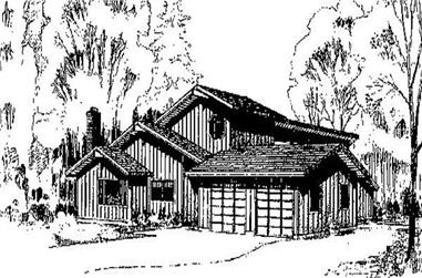 4-Bedroom, 2048 Sq Ft Contemporary Home Plan - 145-1866 - Main Exterior
