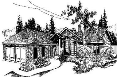 3-Bedroom, 2430 Sq Ft Contemporary Home Plan - 145-1868 - Main Exterior
