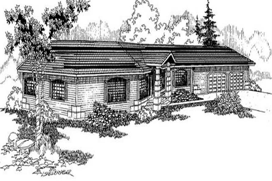 4-Bedroom, 2698 Sq Ft Contemporary Home Plan - 145-1870 - Main Exterior