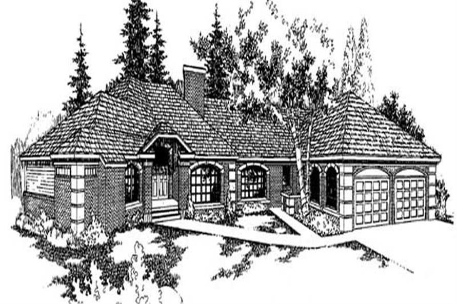 4-Bedroom, 3453 Sq Ft Contemporary Home Plan - 145-1871 - Main Exterior