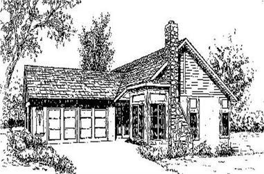 3-Bedroom, 1838 Sq Ft Contemporary House Plan - 145-1875 - Front Exterior