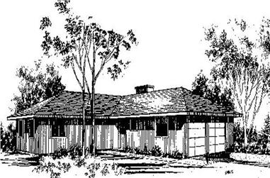 3-Bedroom, 1832 Sq Ft Contemporary Home Plan - 145-1879 - Main Exterior