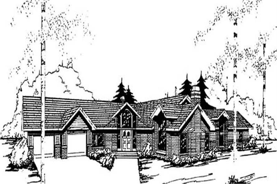 4-Bedroom, 2487 Sq Ft Contemporary House Plan - 145-1883 - Front Exterior