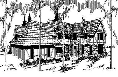 5-Bedroom, 4385 Sq Ft Contemporary House Plan - 145-1884 - Front Exterior