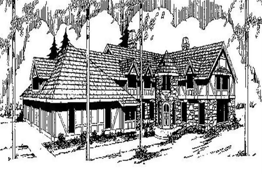 Main image for house plan # 9141