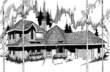 3-Bedroom, 2540 Sq Ft Contemporary House Plan - 145-1885 - Front Exterior