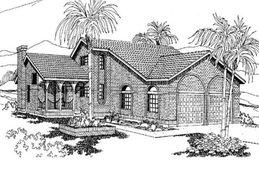 Main image for house plan # 9129