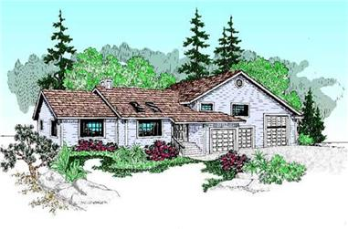 3-Bedroom, 2182 Sq Ft Contemporary House Plan - 145-1887 - Front Exterior