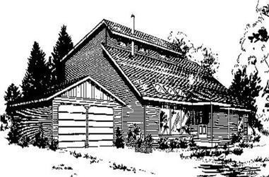 3-Bedroom, 1819 Sq Ft Contemporary Home Plan - 145-1889 - Main Exterior