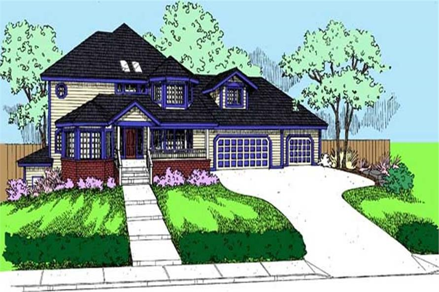 4-Bedroom, 2566 Sq Ft Contemporary Home Plan - 145-1891 - Main Exterior