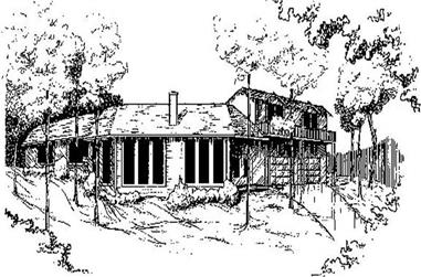 3-Bedroom, 1834 Sq Ft Contemporary Home Plan - 145-1892 - Main Exterior