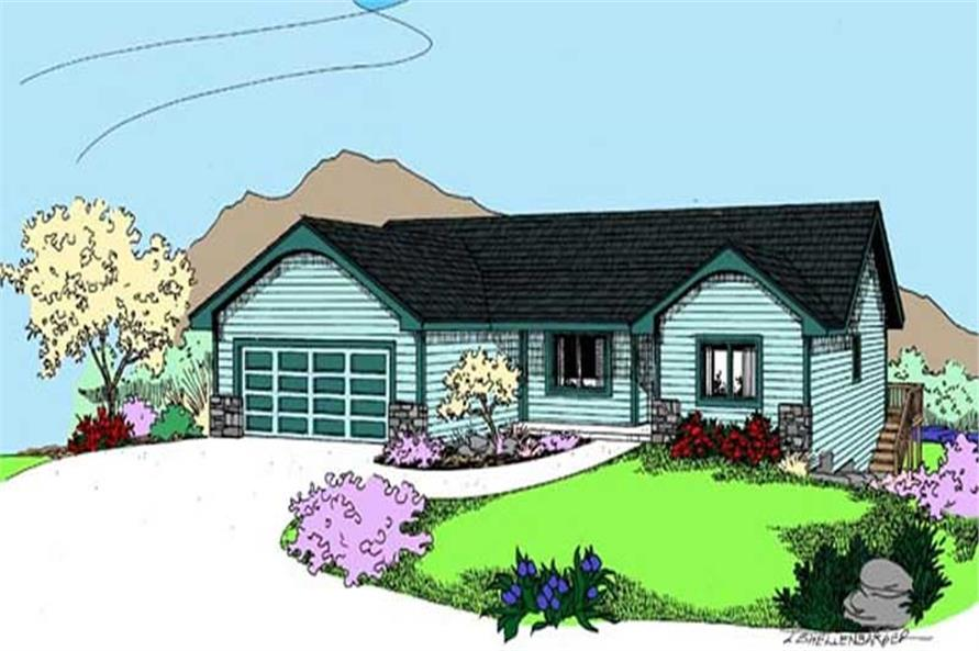 Main image for house plan # 8898