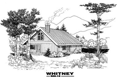 2-Bedroom, 1206 Sq Ft Vacation Homes House Plan - 145-1899 - Front Exterior