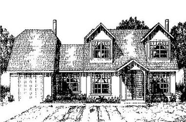 3-Bedroom, 1418 Sq Ft Contemporary House Plan - 145-1901 - Front Exterior