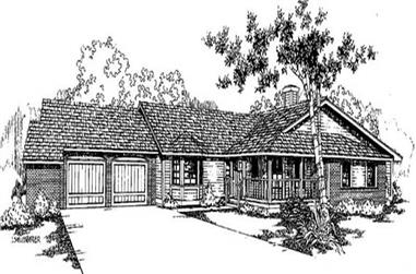 3-Bedroom, 2241 Sq Ft Contemporary Home Plan - 145-1907 - Main Exterior