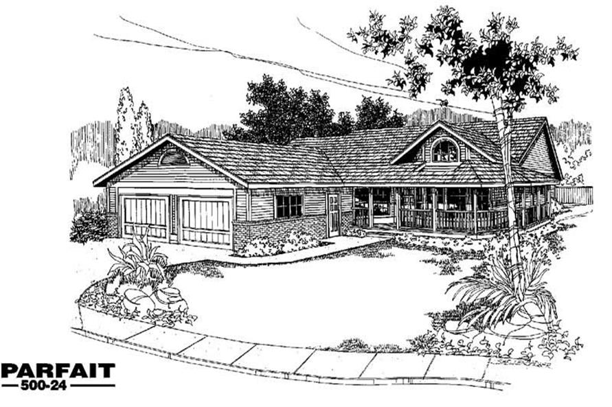 Home Plan Rendering of this 3-Bedroom,1615 Sq Ft Plan -145-1908