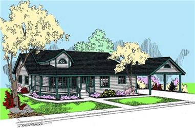 3-Bedroom, 2131 Sq Ft Ranch House Plan - 145-1911 - Front Exterior