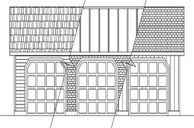 1-Bedroom, 1368 Sq Ft Garage Home Plan - 145-1915 - Main Exterior