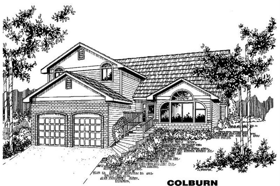 3-Bedroom, 2081 Sq Ft Contemporary House Plan - 145-1918 - Front Exterior