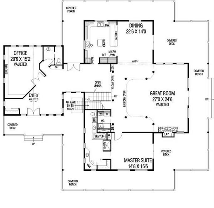 Luxury Modern Ranch Farmhouse House Plans Home Design LMK 408 – Farm House Floor Plan