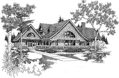 3-Bedroom, 4673 Sq Ft Farmhouse Home Plan - 145-1920 - Main Exterior