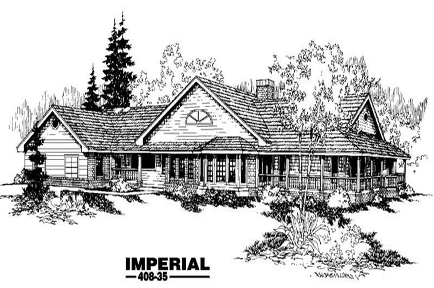 Main image for house plan # 9077