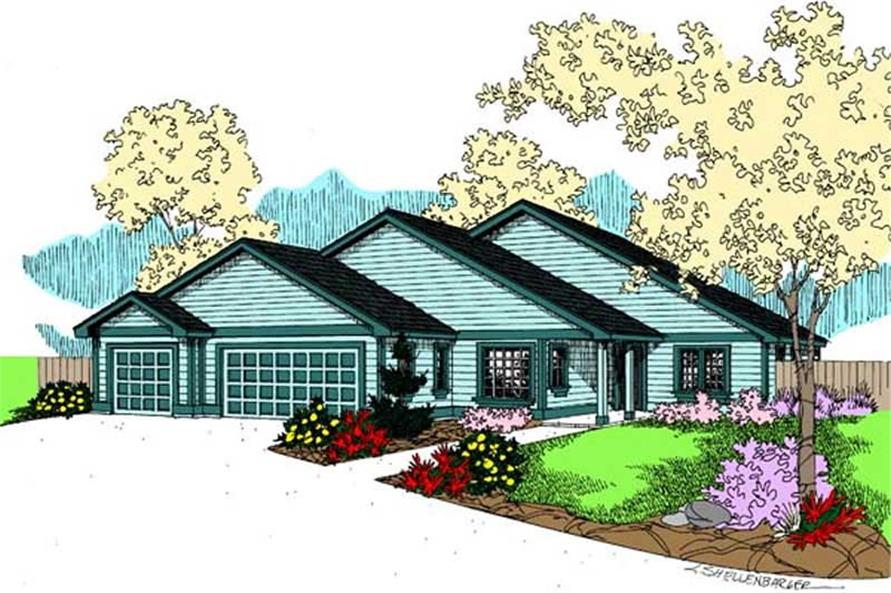 Main image for house plan # 9076