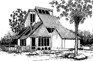 3-Bedroom, 1892 Sq Ft Vacation Homes Home Plan - 145-1924 - Main Exterior