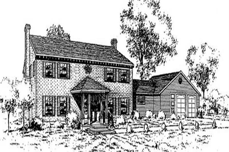 5-Bedroom, 3155 Sq Ft Contemporary Home Plan - 145-1926 - Main Exterior