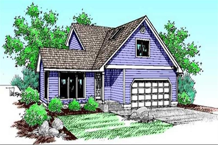 4-Bedroom, 1917 Sq Ft Traditional House Plan - 145-1930 - Front Exterior