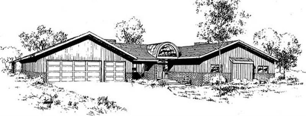 Contemporary home (ThePlanCollection: Plan #145-1934)