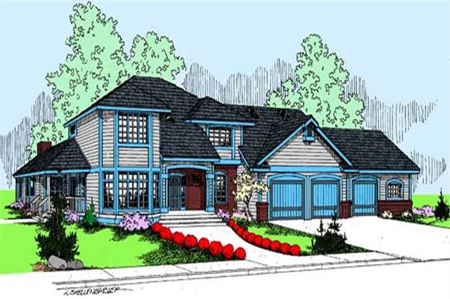 Main image for house plan # 9100